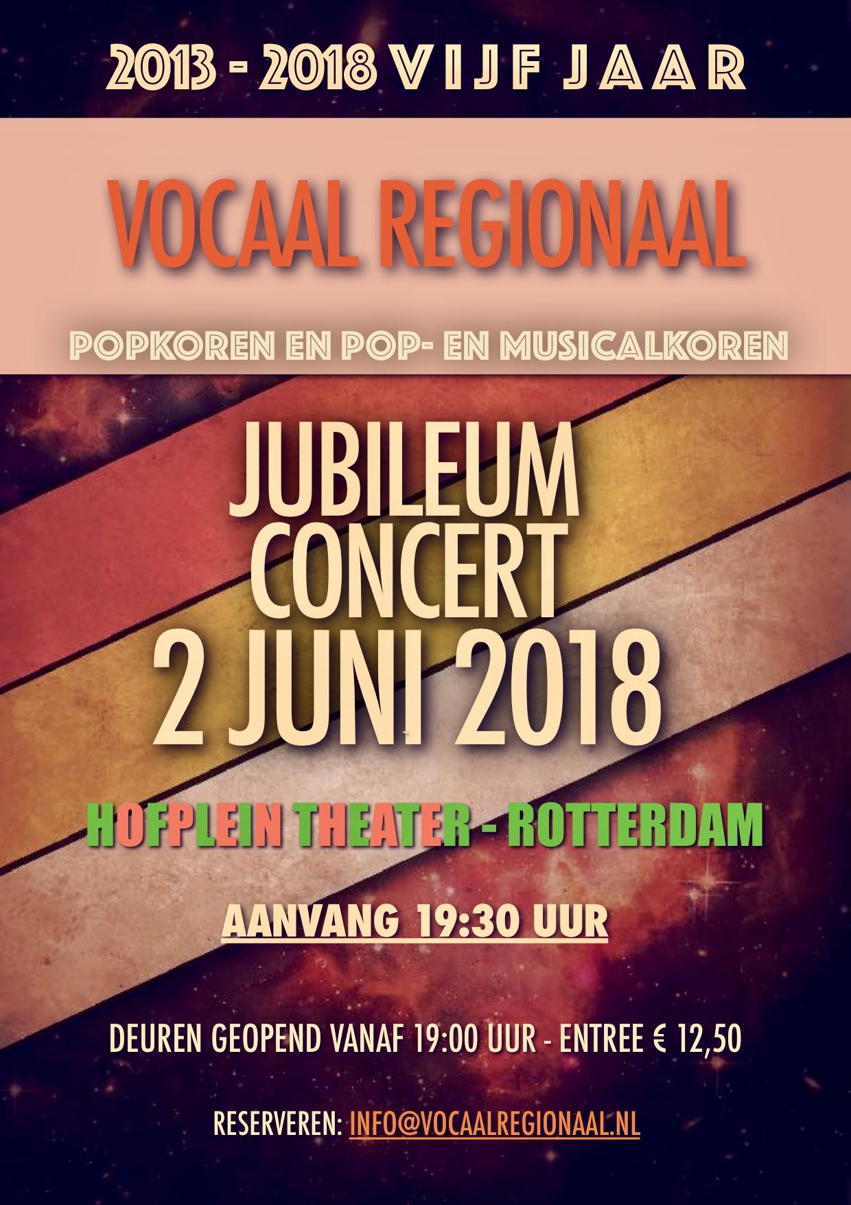 Jubileumconcert Vocaal Regionaal