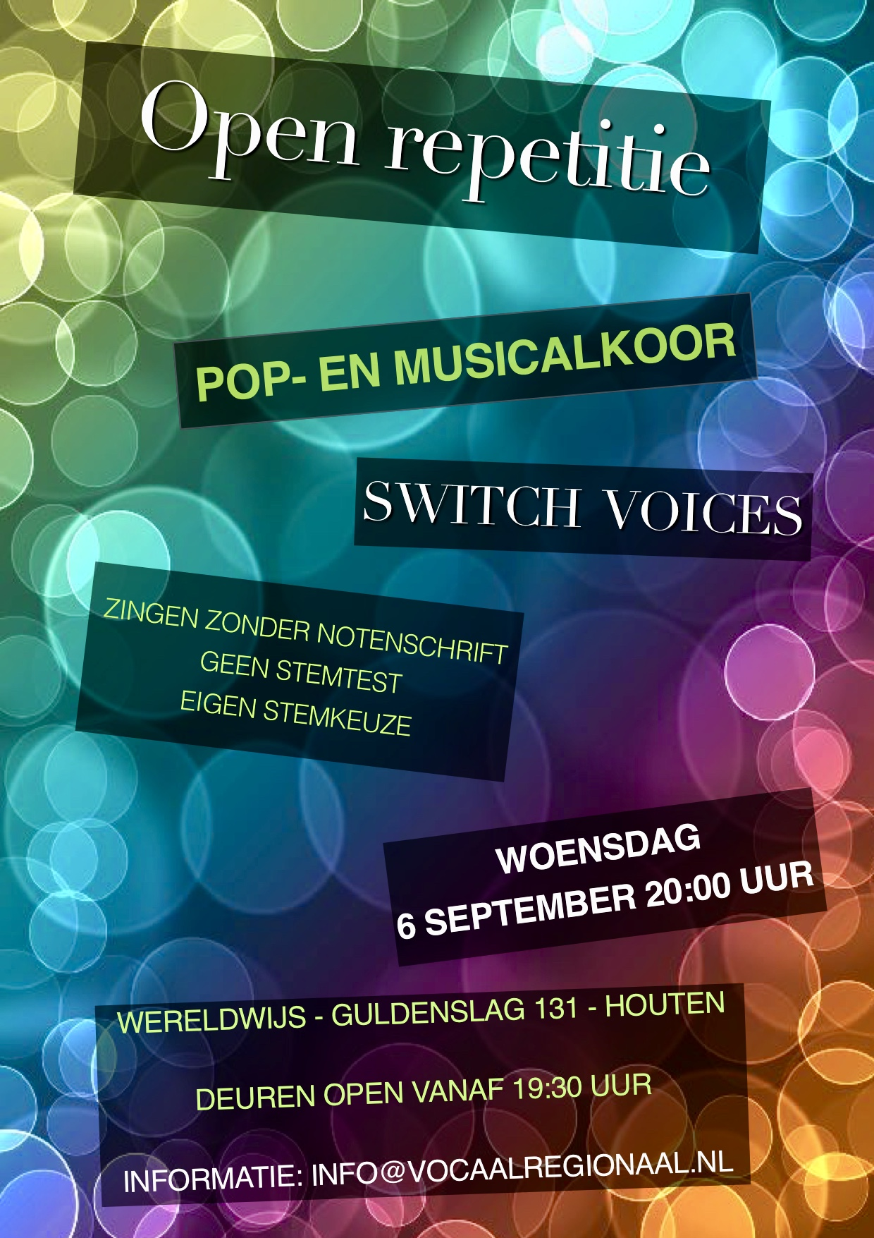 6 september open repetitie